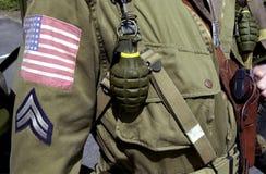 Soldado americano del SOLDADO ENROLLADO EN EL EJÉRCITO de la Segunda Guerra Mundial Imagenes de archivo