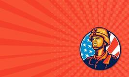 Soldado americano Flag Retro del militar Fotografía de archivo libre de regalías