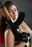 Soldado atractivo de la mujer Imagen de archivo