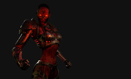 Soldado avançado do cyborg Fotos de Stock