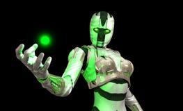 Soldado avanzado del cyborg Foto de archivo libre de regalías