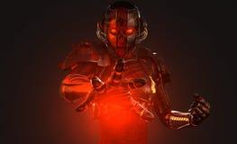 Soldado avanzado del cyborg Imagen de archivo libre de regalías