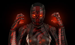 Soldado avanzado del cyborg Foto de archivo
