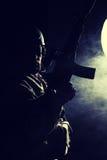Soldado barbudo de las fuerzas especiales imagen de archivo libre de regalías