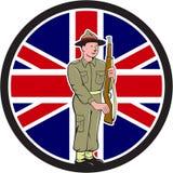 Soldado británico Union Jack Flag Cartoon de la Segunda Guerra Mundial libre illustration
