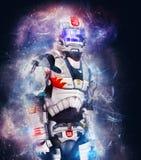 Soldado cósmico ilustração royalty free