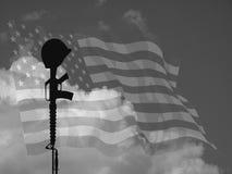Soldado caído EUA fotografia de stock royalty free