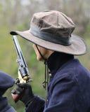 Soldado Civil War Reenactor de la unión Fotos de archivo libres de regalías