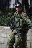 Soldado colombiano fotografía de archivo