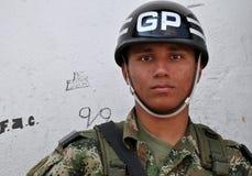 Soldado colombiano Fotografía de archivo libre de regalías