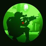 Soldado con un arma Fotos de archivo libres de regalías