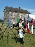 Soldado confederado con su arma Fotos de archivo
