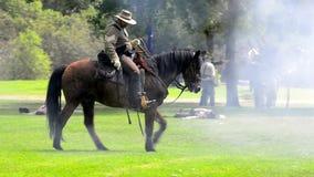 Soldado confederado del caballo metrajes