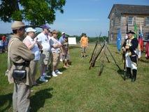 Soldado confederado en la casa de Henry Fotos de archivo libres de regalías