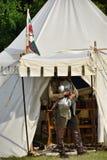 Soldado da fortuna com armadura Imagem de Stock