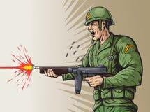 Soldado da guerra mundial 2 Fotografia de Stock Royalty Free