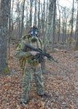 Soldado da máscara de gás Imagem de Stock Royalty Free