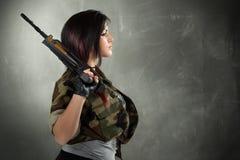 Soldado da mulher Fotos de Stock Royalty Free