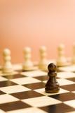 Soldado da placa de xadrez fotografia de stock royalty free