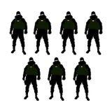 Soldado das forças especiais de alguns países ilustração royalty free