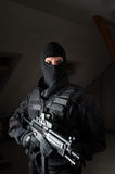 Soldado das forças especiais após a greve Foto de Stock