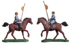 Soldado de brinquedo da cavalaria/branco isolado Imagens de Stock Royalty Free