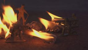 Soldado de brinquedo no fogo O conceito da morte da guerra filme