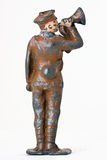 Soldado de brinquedo - um major com trombeta Fotografia de Stock