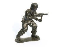 Soldado de brinquedo verde Imagens de Stock