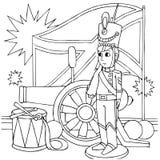 Soldado de estaño constante ilustración del vector