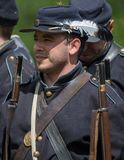Soldado de infantaria da guerra civil Foto de Stock Royalty Free
