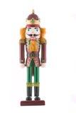 Soldado de juguete del cascanueces aislado Imagen de archivo