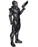 Soldado de la ciencia ficción - colocándose Foto de archivo