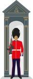 Soldado de la guardia de la caja de centinela Imagenes de archivo