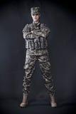 Soldado de la mujer Imágenes de archivo libres de regalías