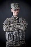 Soldado de la mujer Foto de archivo libre de regalías