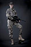 Soldado de la mujer Imagen de archivo libre de regalías
