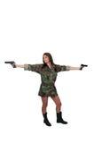 Soldado de la mujer Fotografía de archivo libre de regalías
