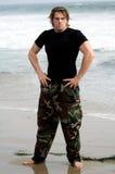 Soldado de la playa Imagen de archivo libre de regalías