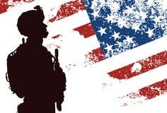 Soldado de los E.E.U.U. Imagen de archivo libre de regalías