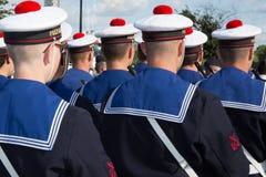 Soldado de marcha do marinheiro francês feliz Imagem de Stock