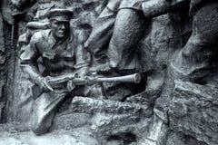 Soldado de piedra, gran guerra patriótica Fotos de archivo libres de regalías