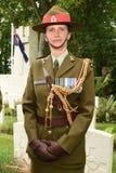 Soldado de sexo femenino Lieutenant Colonel de Nueva Zelanda Fotos de archivo libres de regalías