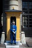 Soldado de sexo femenino sueco Foto de archivo libre de regalías