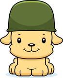 Soldado de sorriso Puppy dos desenhos animados Fotos de Stock