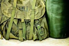 Soldado del bolso del ejército Foto de archivo libre de regalías