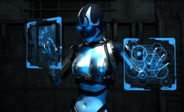 Soldado del Cyborg Imagen de archivo libre de regalías