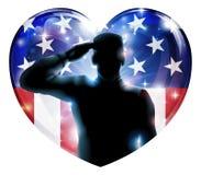 Soldado del día de veteranos o concepto del 4 de julio libre illustration