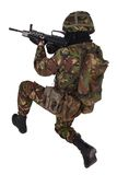 Soldado del ejército británico en uniformes del camuflaje Imagenes de archivo