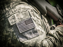 Soldado del EJÉRCITO DE LOS EE. UU. Imagen de archivo libre de regalías